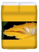 Yellow Hibiscus. Detail Duvet Cover by Ben and Raisa Gertsberg