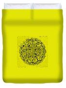 Yellow Oreo Duvet Cover by Rob Hans
