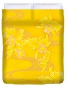 Yellow Stream Duvet Cover by Haruyo Morita
