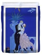 Yes Duvet Cover by Georges Barbier
