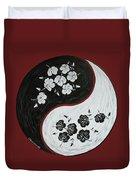 Yin And Yang Of Hibiscus Duvet Cover by Chikako Hashimoto Lichnowsky