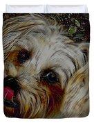 Yorkshire Terrier Artwork Duvet Cover by Lesa Fine