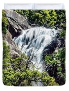 Yosemite Waterfall Duvet Cover by Bob and Nadine Johnston