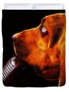 You Ain't Nothing But A Hound Dog - Dark - Electric Duvet Cover by Wingsdomain Art and Photography