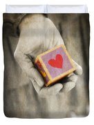 You Hold My Heart In Your Hand Duvet Cover by Edward Fielding