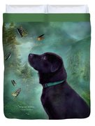 Young Lab And Buttys Duvet Cover by Carol Cavalaris