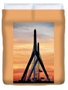 Zakim Bridge In Boston Duvet Cover by Elena Elisseeva