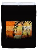 Zebra Art - Rng02t01 Duvet Cover by Variance Collections