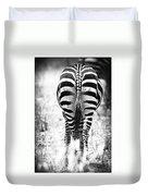 Zebra Butt Duvet Cover by Adam Romanowicz