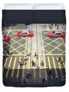Zebra Crossing - Hong Kong Duvet Cover by Matteo Colombo