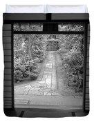 ZEN GARDEN WALKWAY Duvet Cover by Daniel Hagerman