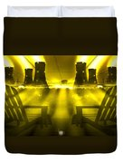 Zero Hour In Yellow Duvet Cover by Mike McGlothlen