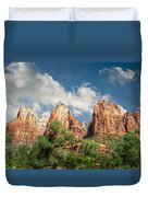 Zion Court Of The Patriarchs Duvet Cover by Tammy Wetzel
