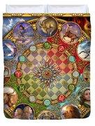 Zodiac Mandala Duvet Cover by Ciro Marchetti