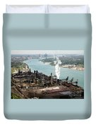 Zug Island Industrial Area Of Detroit Duvet Cover by Bill Cobb