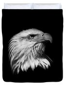 Black and White American Eagle Duvet Cover by Steve McKinzie