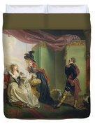 Malvolio Before Olivia - From 'twelfth Night'  Duvet Cover by Johann Heinrich Ramberg