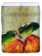 Memory Of Leaves Duvet Cover by Judi Bagwell