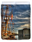 013 Uss Niagara 1813 Series Duvet Cover by Michael Frank Jr