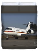 A Bombardier Global 5000 Vip Jet Duvet Cover by Timm Ziegenthaler