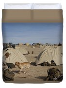 A Dog Handler And His Military Working Duvet Cover by Stocktrek Images