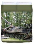 A Leopard 1a5 Mbt Of The Belgian Army Duvet Cover by Luc De Jaeger