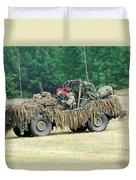 A Recce Unit Of The Belgian Army Duvet Cover by Luc De Jaeger