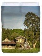 Abandoned Collapsed Farm House Duvet Cover by Douglas Barnett