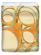 abstract circle Duvet Cover by Setsiri Silapasuwanchai