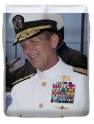 Admiral Eric T. Olson Speaks Duvet Cover by Michael Wood