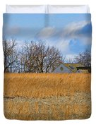 Artist in Field Duvet Cover by William Jobes