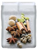 Assorted Spices Duvet Cover by Elena Elisseeva