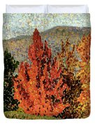 Autumn Landscape Duvet Cover by Henri-Edmond Cross