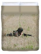Belgian Paratroopers On Guard Duvet Cover by Luc De Jaeger