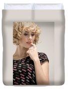 Blond Lady Duvet Cover by Ralf Kaiser