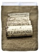 Bordeaux Wine Corks Duvet Cover by Frank Tschakert