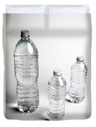 Bottled Water Duvet Cover by Photo Researchers