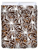 Brown Abstract Duvet Cover by Frank Tschakert