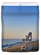 Cape Cod Lifeguard Stand Duvet Cover by John Greim