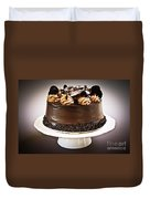 Chocolate Cake Duvet Cover by Elena Elisseeva