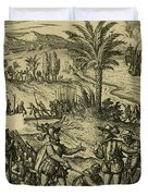 Columbus Arrested Duvet Cover by Photo Researchers