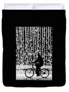 Cycling Silhouette Duvet Cover by Carlos Caetano