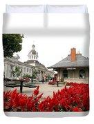 Downtown Kingston Duvet Cover by Valentino Visentini