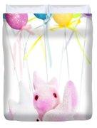 Easter bunny toys Duvet Cover by Elena Elisseeva