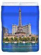 Eiffel Tower Las Vegas Duvet Cover by Nicholas  Grunas