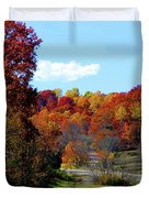 Fall Drive in Tennessee Duvet Cover by EricaMaxine  Price