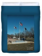 Flags With Blue Sky Duvet Cover by Kip DeVore