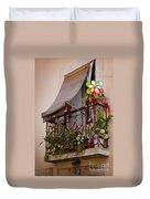 Flowery Balcony Duvet Cover by Carlos Caetano