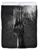 Fork And Feather Duvet Cover by Joana Kruse