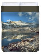 Geissler Mountain And Linkins Lake Duvet Cover by Tim Fitzharris